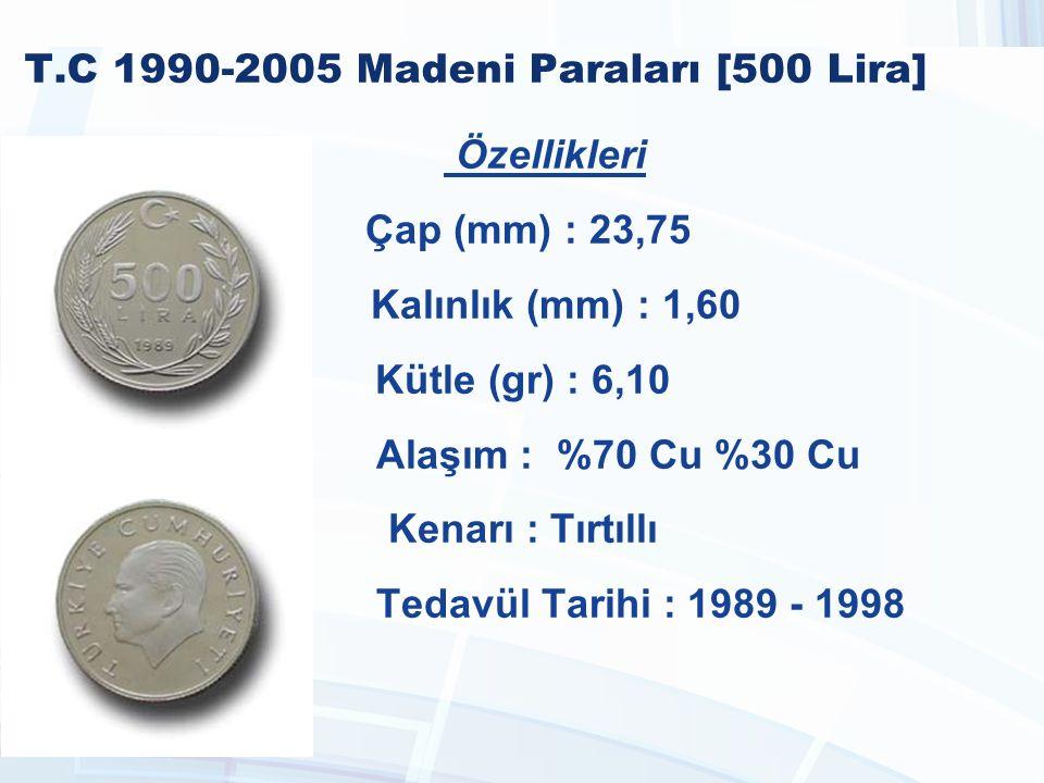 T.C 1990-2005 Madeni Paraları [500 Lira]